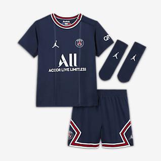 Paris Saint-Germain 2021/22 Equipamento de futebol principal para bebé