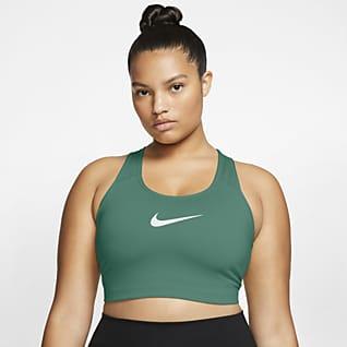 Nike Swoosh Women's Medium-Support Non-Padded Sports Bra (Plus Size)