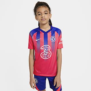 Chelsea FC 2020/21 Stadium Third Fodboldtrøje til store børn