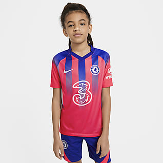 Chelsea FC Stadium 2020/21 (wersja trzecia) Koszulka piłkarska dla dużych dzieci