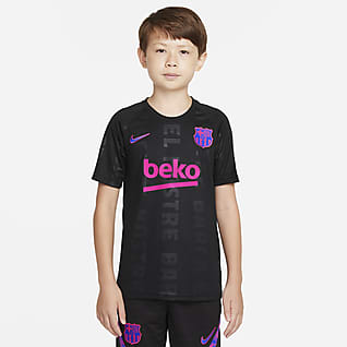 FC Barcelona Big Kids' Nike Dri-FIT Pre-Match Soccer Top