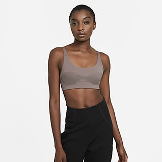 Nike Dri-FIT City Ready Enyhe tartást adó, párnázás nélküli női sportmelltartó
