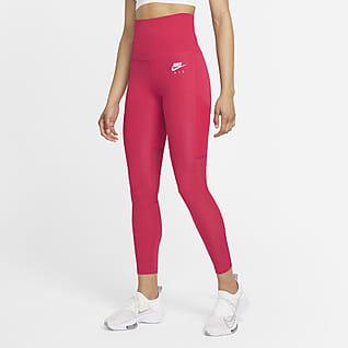 Nike Air Dri-FIT Leggings de running de 7/8 con cintura plegable para mujer