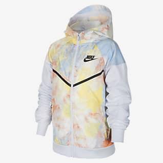 Nike Sportswear Windrunner 大童(男孩)扎染夹克