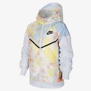 Nike Sportswear Windrunner Big Kids' (Boys') Tie-Dye Jacket