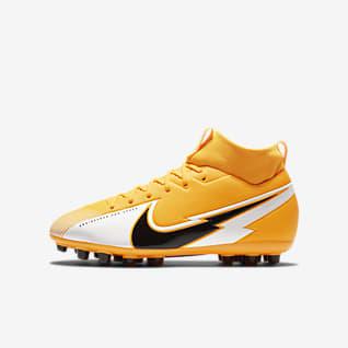 Nike Jr. Mercurial Superfly 7 Academy AG Botas de fútbol para césped artificial - Niño/a y niño/a pequeño/a