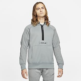 Nike Sportswear Air Max Sweat à capuche à demi-zip en tissu Fleece pour Homme