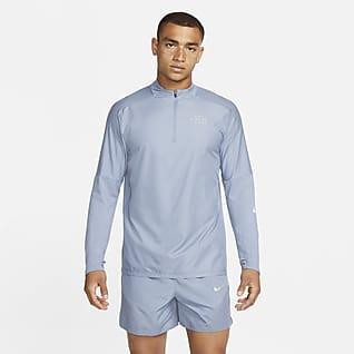 Nike Dri-FIT Run Division Flash Ανδρική μπλούζα για τρέξιμο με φερμουάρ στο μισό μήκος