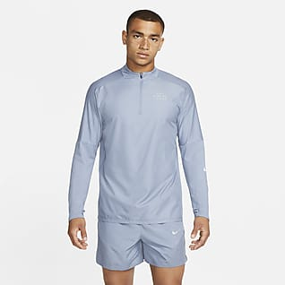 Nike Dri-FIT Run Division Flash Мужская беговая футболка с молнией на половину длины