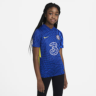Chelsea F.C. 2021/22 Stadium Home Older Kids' Football Shirt