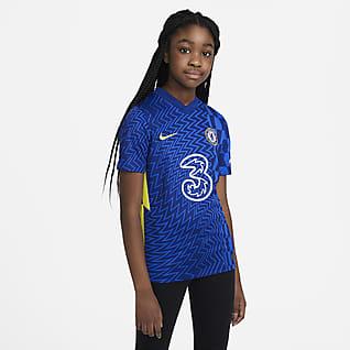 Chelsea FC 2021/22 Stadyum İç Saha Genç Çocuk Futbol Forması