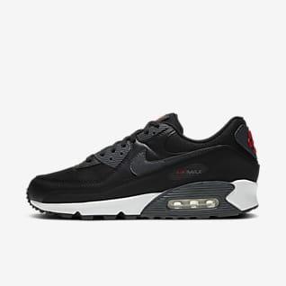 Hommes Noir Air Max 90 Chaussures. Nike LU