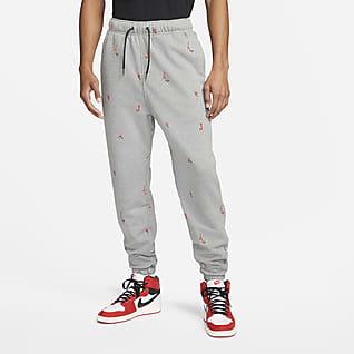 Jordan Essentials Calças estampadas de lã cardada para homem