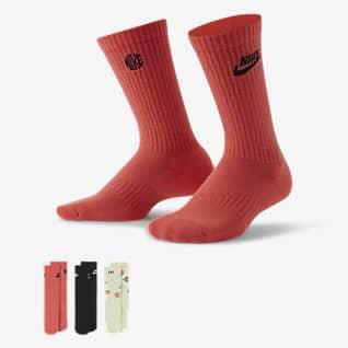 Nike Everyday Crew sokken met demping voor kids (3 paar)