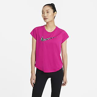 Nike Run Icon Clash Part superior de màniga curta de running - Dona