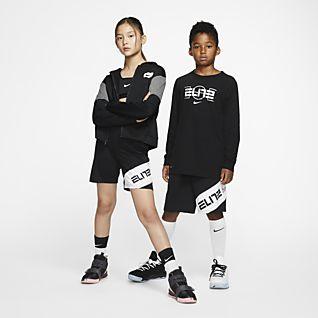 Nike Elite Basketballshorts mit Grafik für ältere Kinder