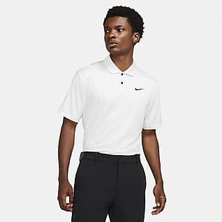 Nike Dri-FIT Vapor Pánská golfová polokošile s proužky