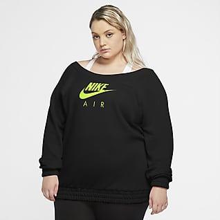 Nike Air Part superior de màniga llarga de teixit Fleece (talles grans) - Dona