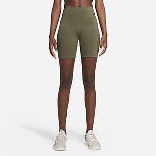 Nike One Shorts da ciclista a vita media 18 cm - Donna