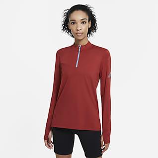 Nike Dámské trailové běžecké tričko, střední vrstva