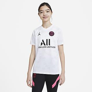 Παρί Σεν Ζερμέν Ποδοσφαιρική μπλούζα προθέρμανσης για μεγάλα παιδιά