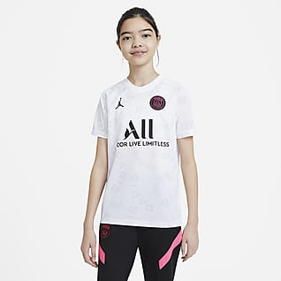 Paris Saint-Germain Older Kids' Pre-Match Football Top