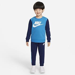 Nike Conjunto de sudadera de cuello redondo y pantalones infantil