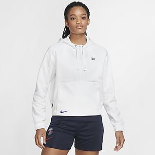 Paris Saint-Germain Rövid cipzáras, rövidített szabású női kapucnis pulóver futballhoz