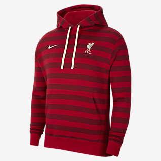 Liverpool FC Hoodie pullover de lã cardada para homem