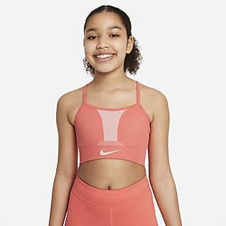 Nike Dri-FIT Indy Sportmelltartó nagyobb gyerekeknek (lányok)