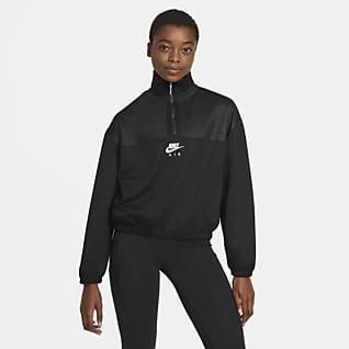 Nike Air Overdel med glidelås i halsen til dame