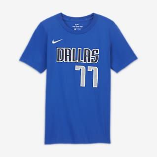 Luka Dončić Mavericks T-shirt dla dużych dzieci Nike NBA