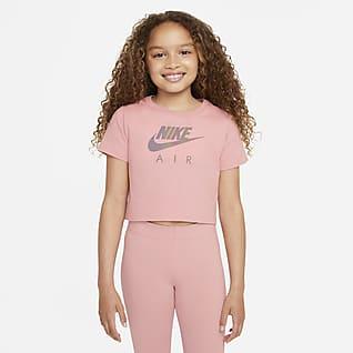Nike Sportswear เสื้อยืดเอวลอยเด็กโต (หญิง)