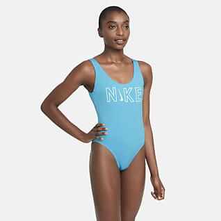 Nike Traje de baño de una sola pieza con espalda en U para mujer