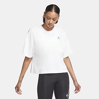 Jordan Essentials Kortermet T-skjorte med firkantet fasong til dame
