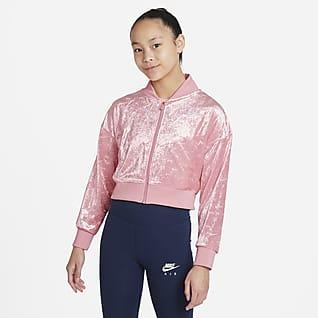 Nike Air Chamarra cropped para niñas talla grande