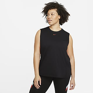 Nike Dri-FIT Women's Colour-Block Stripe Training Tank (Plus Size)