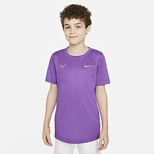 Rafa Playera de tenis para niño talla grande