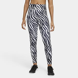 Nike One Leggings i 7/8-längd med tryck Icon Clash
