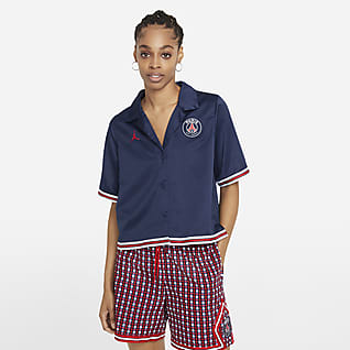 Paris Saint-Germain Solid kortärmad tröja för kvinnor