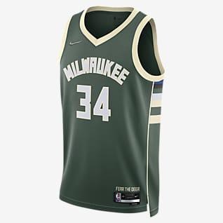 Milwaukee Bucks Diamond Icon Edition Jersey Nike Dri-FIT NBA Swingman