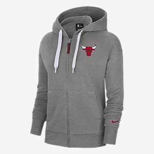Chicago Bulls Essential Women's Nike NBA Full-Zip Hoodie