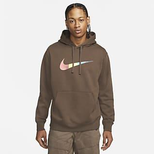 Nike Sportswear Felpa pullover con cappuccio e rovescio spazzolato - Uomo