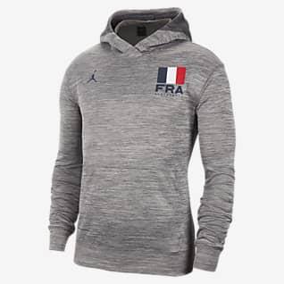 France Jordan Spotlight Sudadera con capucha de básquetbol para hombre