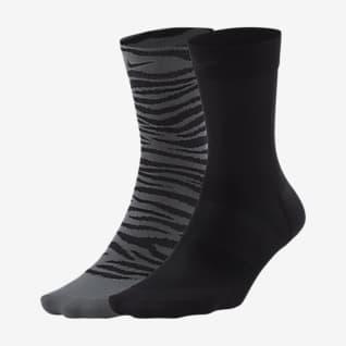 Nike Sheer Женские носки до щиколотки для тренинга (2 пары)