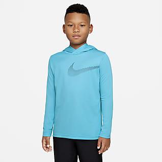 Nike Dri-FIT Big Kids' (Boys') Long-Sleeve Hooded Training Top