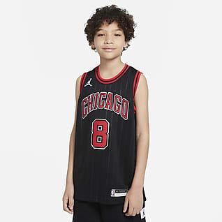 Zach LaVine Bulls Statement Edition 2020 Jordan NBA Swingman-trøje til større børn
