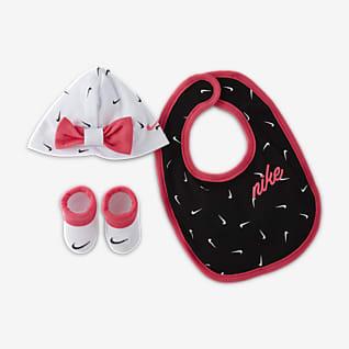 Nike Baby (0-12M) Hat, Bib and Booties Box Set