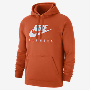 Nike College Club Fleece (Clemson) Men's Pullover Hoodie