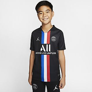 Jordan x Paris Saint-Germain 2019/20 Stadium Fourth Older Kids' Football Shirt